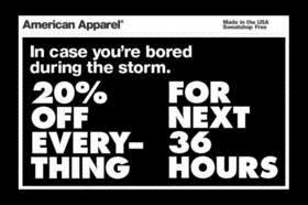 American Apparel doing social media wrong
